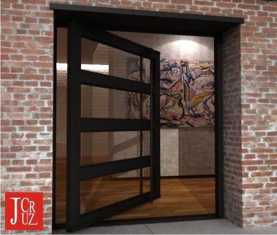 Paragon Modern Door with Glass Steel \u0026 Long Custom Made Pulls & 8 best Modern Architectural Doors images on Pinterest   Entrance ...