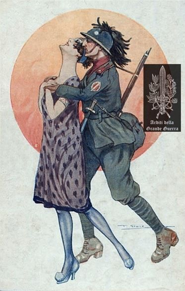 Italian Arditi themed illustration, WWI