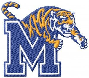 Memphis Tigers Embroidery Design
