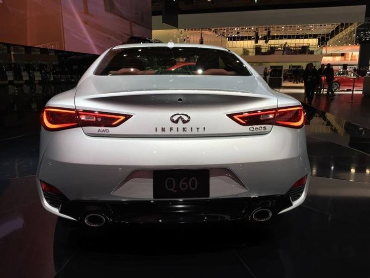 flic.kr/p/D8WKc1 | 2017 Infiniti Q60 Sport Coupe | 2017 Infiniti Q60 Sport Coupe rear end in Silver.  Shot at the NAIAS 2016