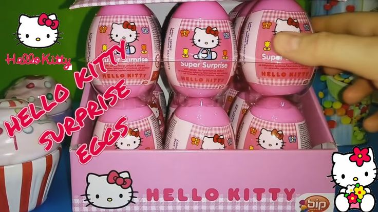 खिलौने अचरज अंडे ΕΚΠΛΗΞΗ HUGE 18 HELLO KITTY SURPISE EGGS FOR LITTLE PRI...