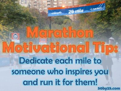 Marathon Motivation Tip: Run It For Someone Else...maybe I could write this on my arm...yes ALL 26 of them!