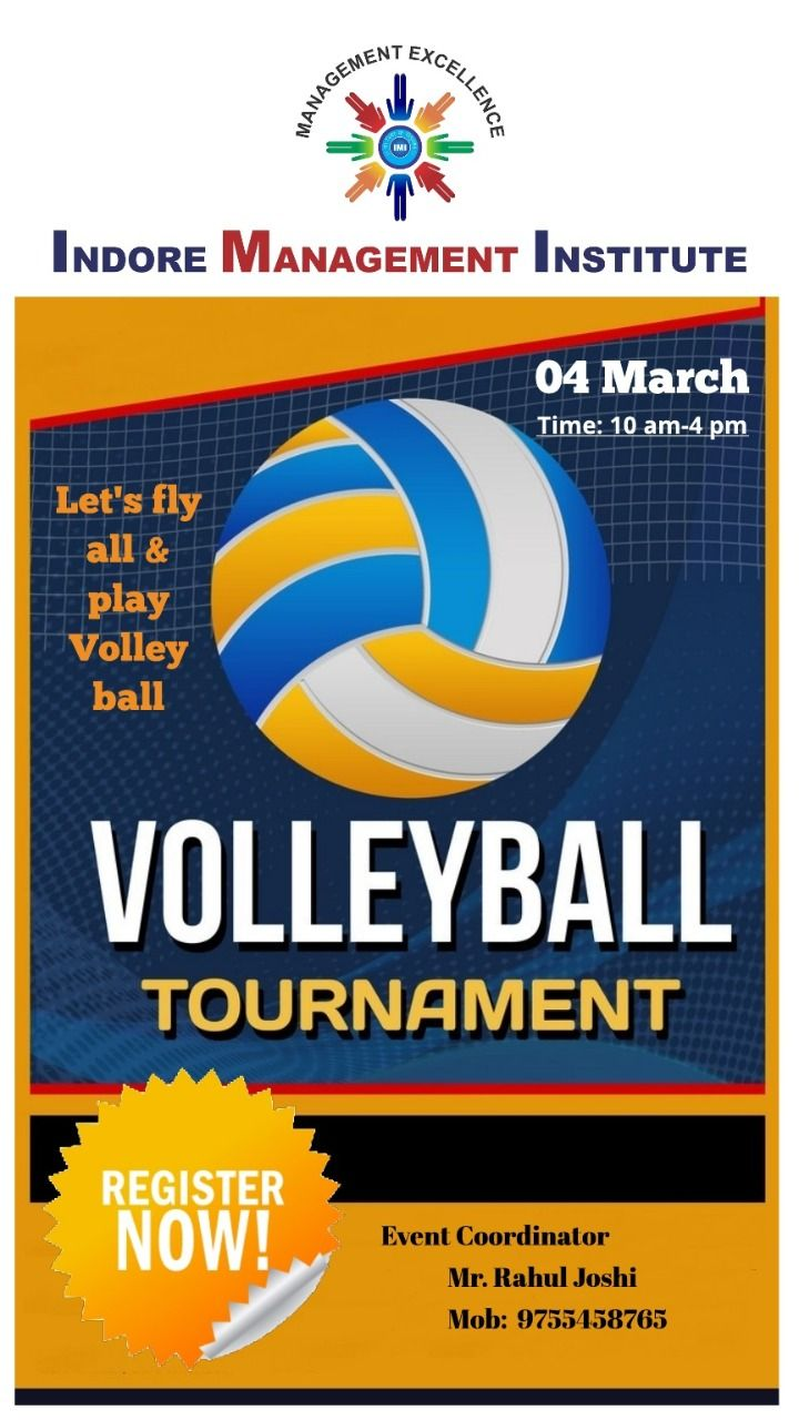 Volleyball Tournament Imi In 2020 College Management Mentorship Program Student Plan