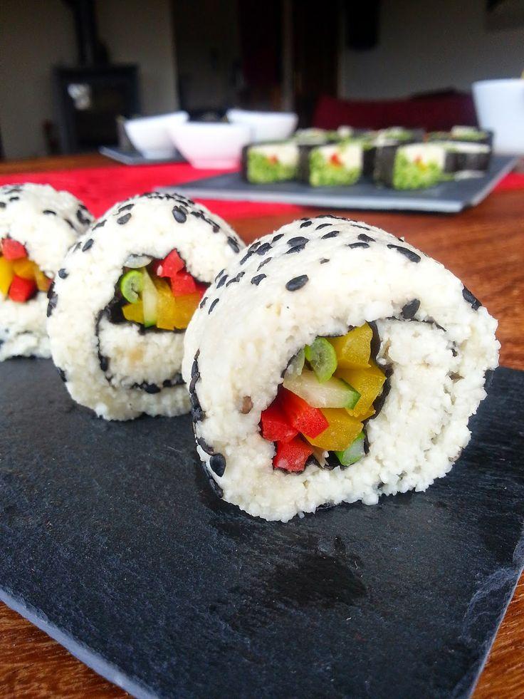 VEGANAS MAGIC MOMENTS: Rohköstliches Sushi aus Blumenkohl und Broccoli