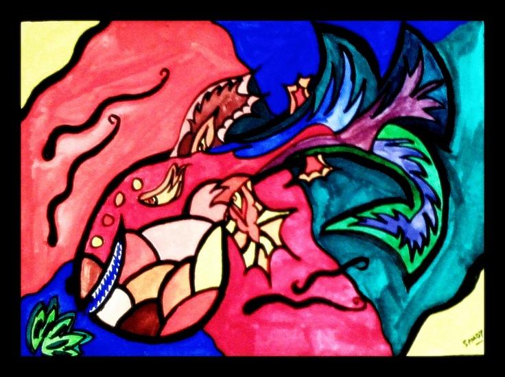 Fishy Tales (watercolor) - 1999