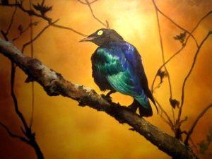 the blue bird, Oil on canvas