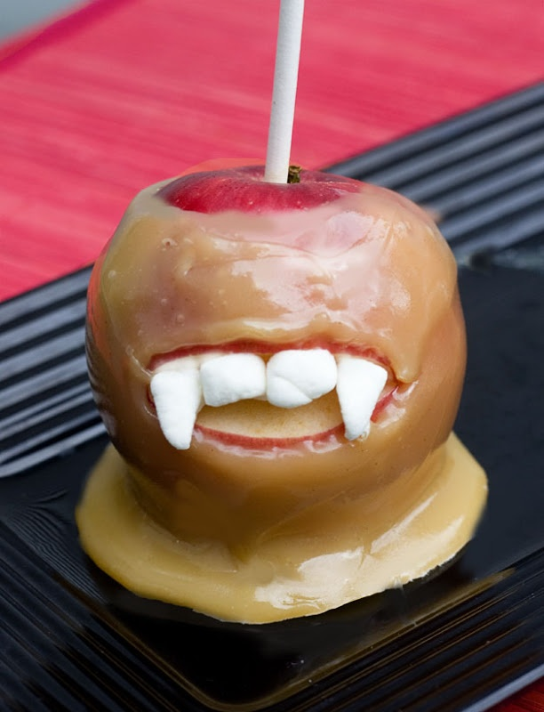 67 best halloween vampire party images on pinterest for Caramel apple recipes for halloween