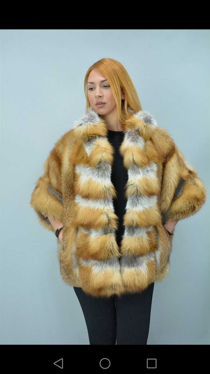 Fox jacket with collar