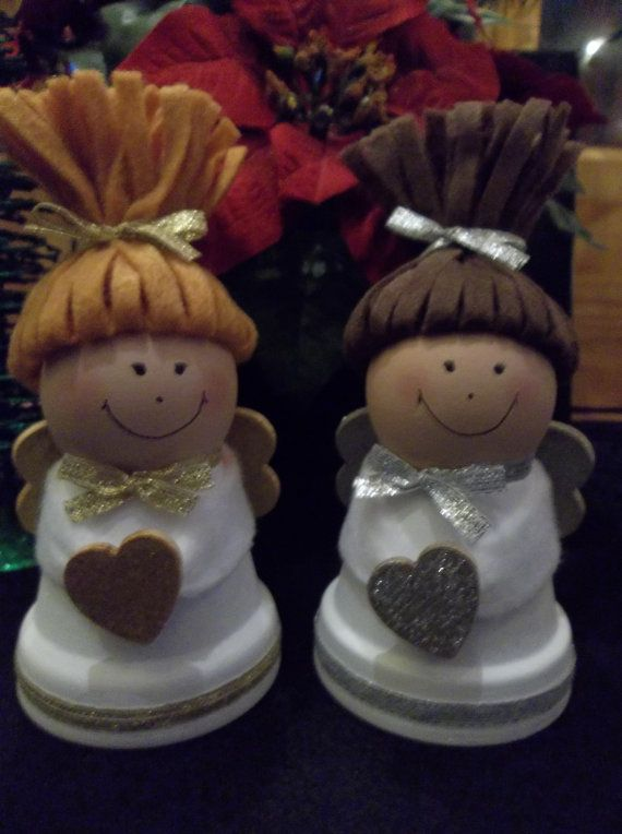 Clay Pot Christmas Angels