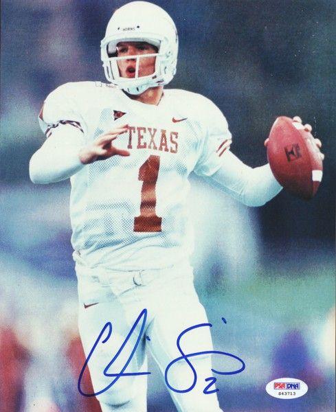 Chris Simms Autographed 8x10 Photo University of Texas PSA/DNA #S43713