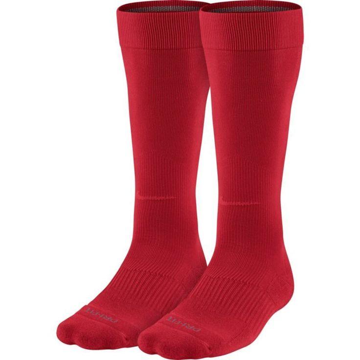 Nike Over-the-Calf Baseball Socks 2 Pack, Size: Small, Red