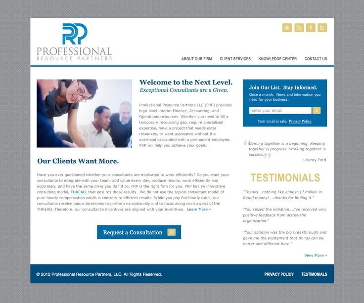 Professional Resource Partners Website