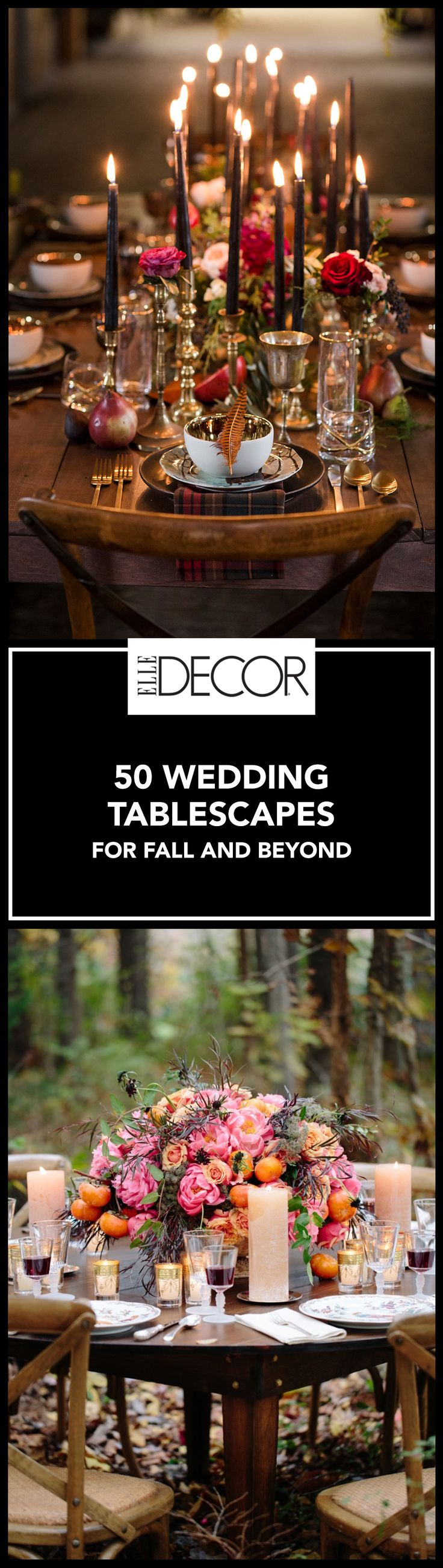 Make dinner a stylish statement on your wedding day with these stunning wedding tablescapes perfect for fall.