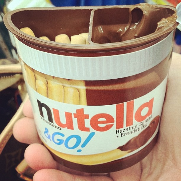 NUTELLA TO-GO....does it get any better than this? found it at walmart today :) it was delish.