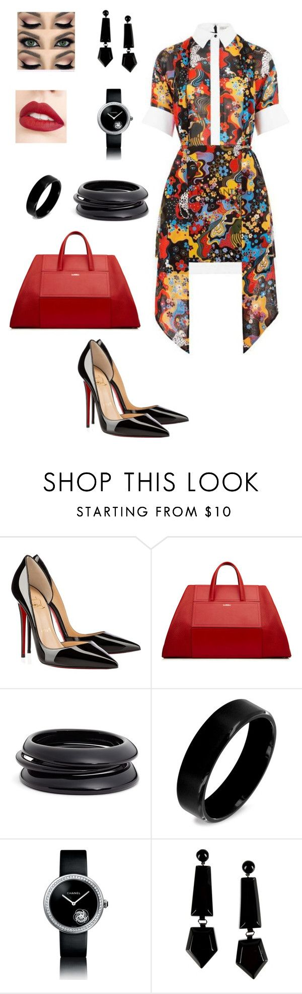 """""""Untitled #319"""" by tamara-kesic ❤ liked on Polyvore featuring Christian Louboutin, ZENZii, West Coast Jewelry, Chanel, Emporio Armani and Jouer"""