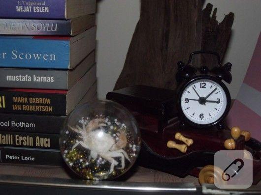 eski bir ambül, kurumuş akrep ve boncuklardan yapılmış dekoratif süs çalışması ve daha pek çok kendin yap dekorasyon önerisi 10marifet.org'da