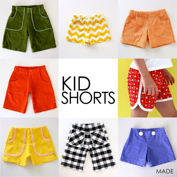 Tons of kids' shorts #sewing patterns from Dane Made It -- great for the #summer, so many great styles in these patterns!