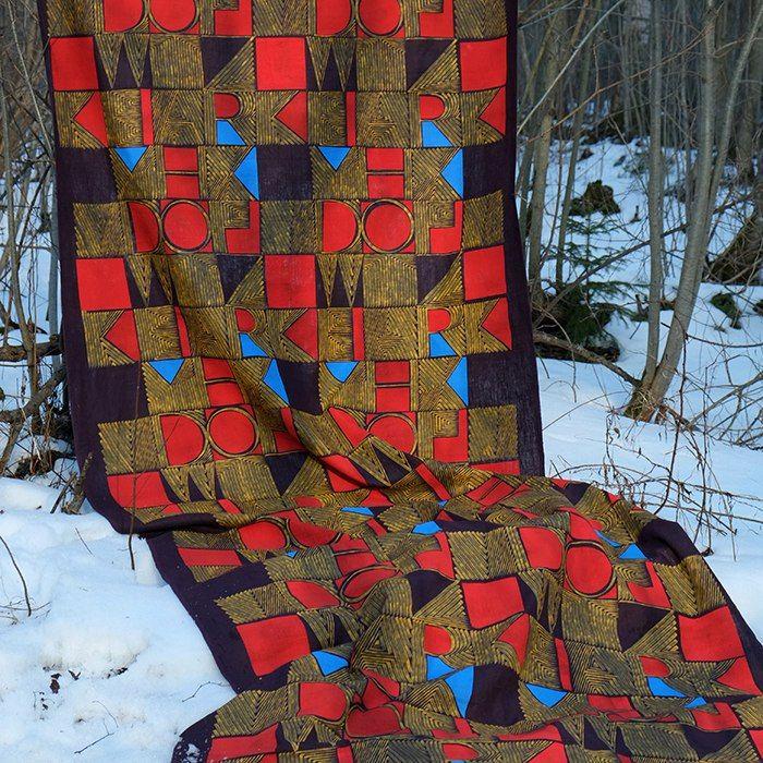 Анна Семенова   ВКонтакте, linen fabric, screen  printing