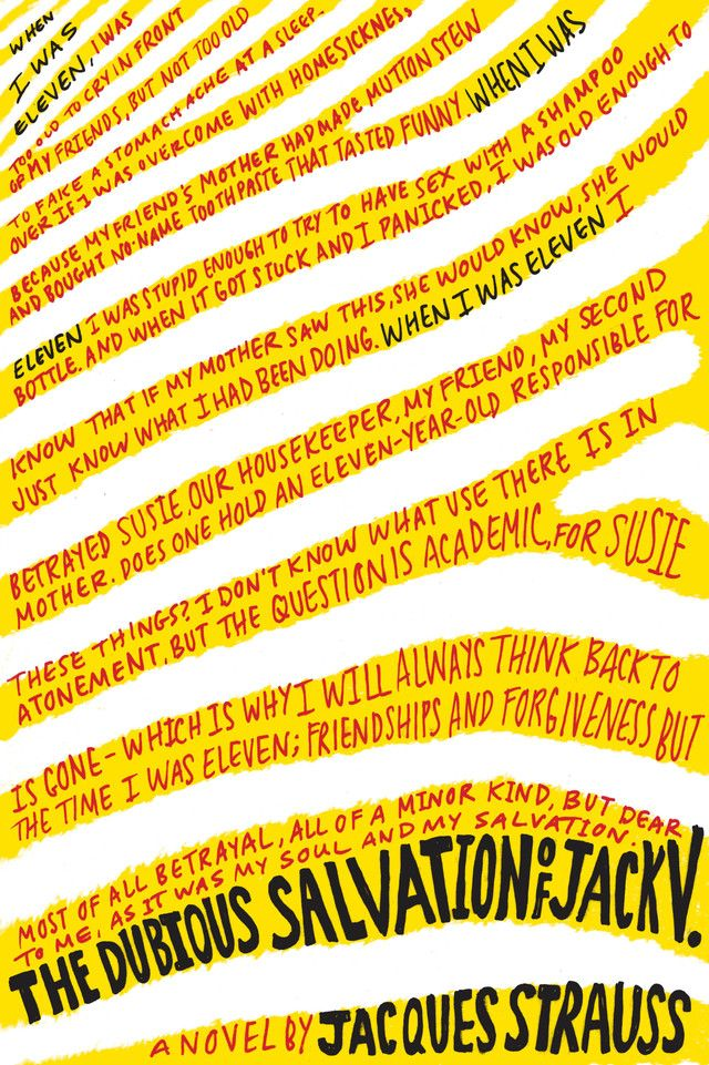 The Dubious Salvation of Jack #BookCover #Book
