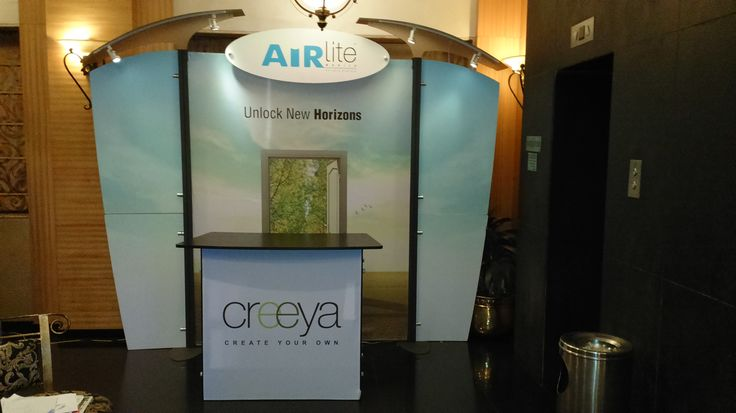 Booth design made up of AirLite & Creeya Solution.