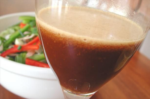 Fat Free Asian Salad Dressing from Food.com: A tangy dressing that you only need to use a tiny bit of because it's richly flavored. It's fat free and wonderful! If you must, then you can drizzle a little olive oil into your salad after tossing it with this dressing but, honestly, it doesn't need it to make a delicious salad! Also a yummy dressing for sauteed tofu and vegetables. Enjoy!