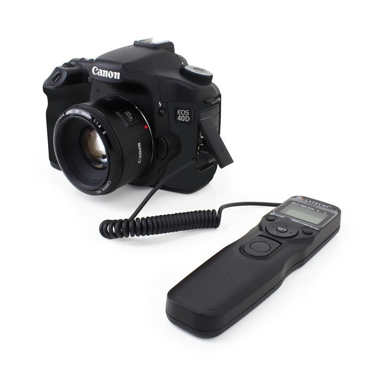 Satechi TR-A Timer Remote Control Shutter for Canon EOS-1V/1VHS, EOS-3, EOS-D2000, D30, D60, 1D, 1Ds, EOS-1D Mark II,III,IV, EOS-1Ds Mark II,III, EOS-10D, 20D, 30D, 40D, 50D, 5D, 5D Mark II, 7D Fully Compatible with RS-80N3