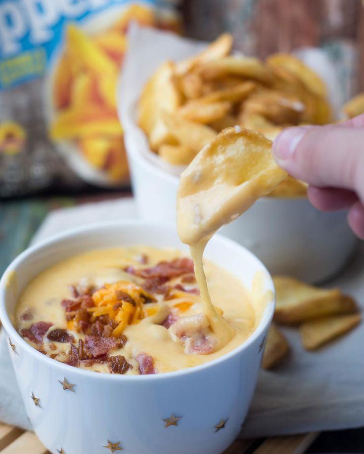 Bacon-kaasdip met potato dipperz