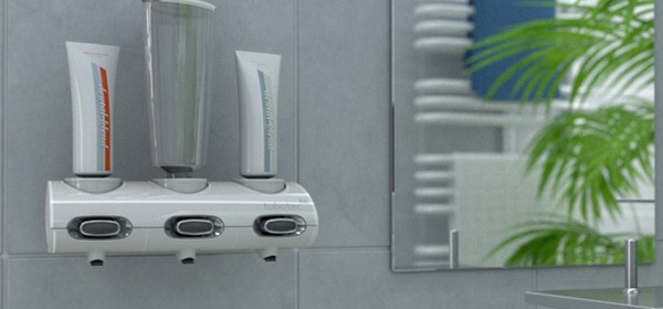 """Zahnpastaspender Tubtec Design und Farbe für Ihr Badezimmer. Seifenspender, Duschgelspender, Zahncremespender und mehr in eine Gerät. Komfortabel und sparsam für Hygieneartikel und Kosmetikartikel. Einfache montieren mit """"nie wieder bohren"""" in der Duschkabin, Waschtische oder Spiegelbereich. Die Originalbehälter können duch die Adapter leicht aufgesetzt werden, kein Umfüllen mehr. Laut Kundenaussagen ideal auch für Senioren oder Menschen mit Behinderug, Handicap."""