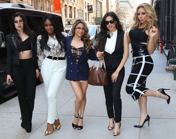 Lauren, Normani,Ally, Camila e Dinah do grupo Fifth Harmony