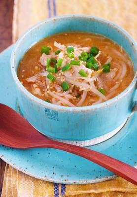 煮るだけ5分♪『豚肉ともやしのコクうま♡韓国風とろみスープ』 by Yuu | レシピサイト「Nadia | ナディア」プロの料理を無料で検索