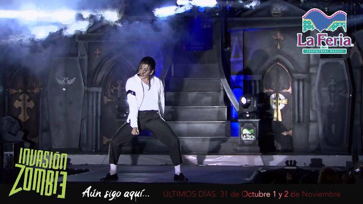 Imitador de Michael Jackson en la Feria de Chapultepec Invasion Zombie 2014