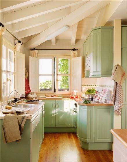Liczba pomysłów na temat: decorar cocinas pequeñas na pintereście ...