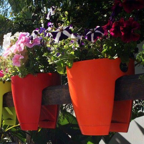 For Jean - plant potsPlants Can, Greenbo Railings, Gift Ideas, Back Porches, Furniture Decor, Home Offices, Flower Boxes, Railings Planters,  Flowerpot