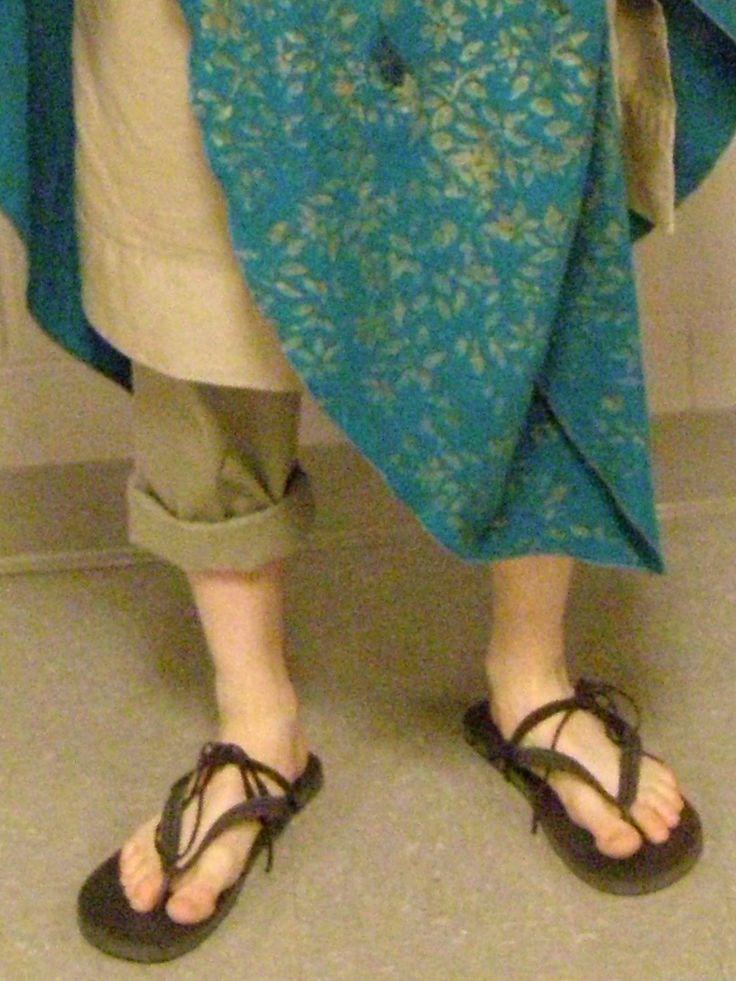 Greek sandals from flip flops
