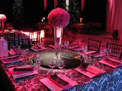 Mitzvah Inspiration Juicy CoutureBlack party Table linens and
