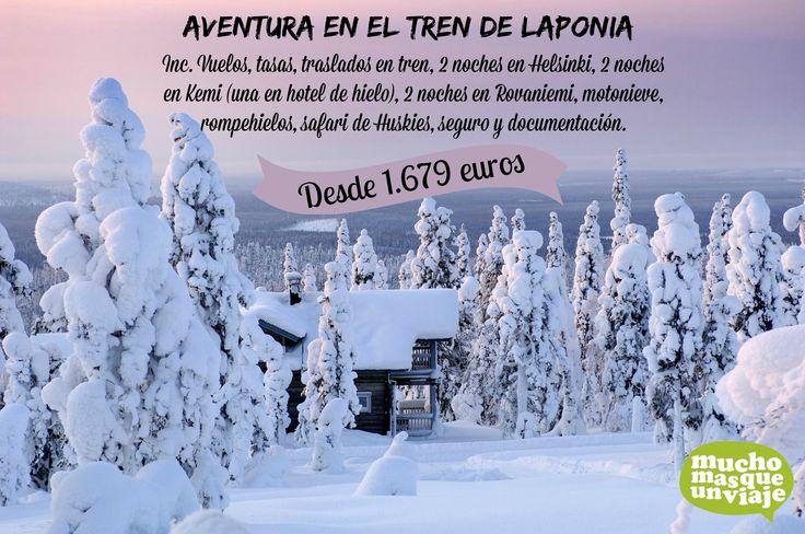 RUTA EN TREN A LAPONIA: DUERME EN UN HOTEL DE HIELO, MONTA EN MOTO DE NIEVE, EN UN TRINEO DE HUSKIES, SUBE A UN ROMPEHIELOS, ETC. DESDE 1.679 EUROS. http://muchomasqueunviaje.com/viaje-a-laponia-en-tren.php RESERVA TU VIAJE LLAMANDO AL 936645917 O ENVIANDO UN MAIL A info@muchomasqueunviaje.com www.muchomasqueunviaje.com