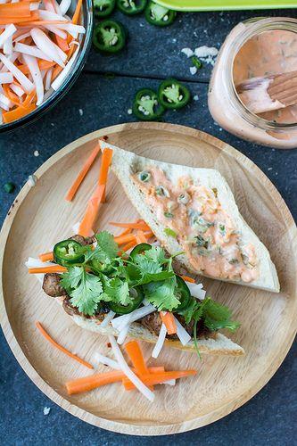 Pork Meatball Banh Mi | Sandwiched | Pinterest