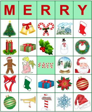 Printable BINGO Cards for Christmas