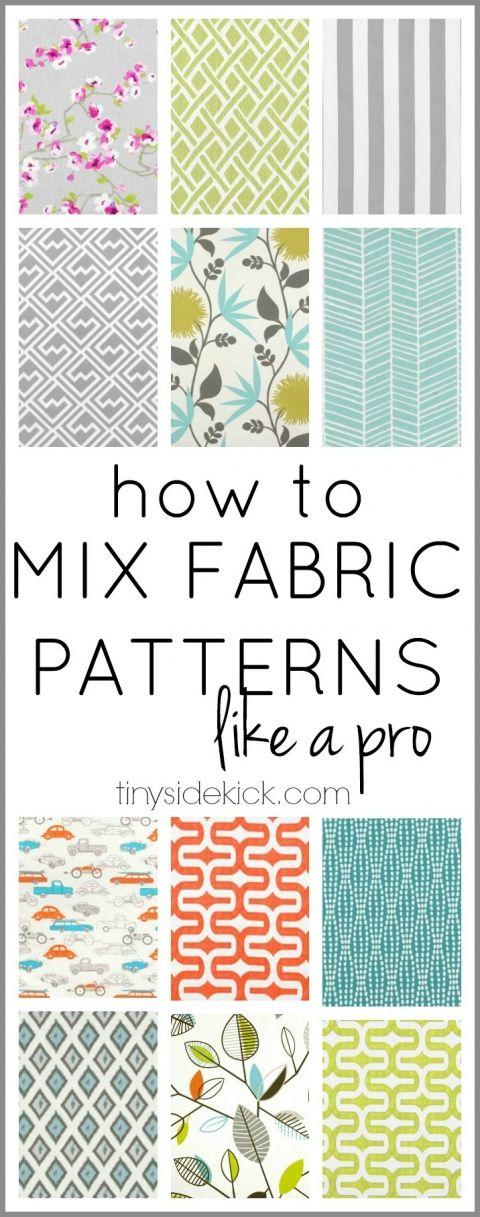 how to mix fabric patterns like a pro - tinysidekick.com - home blog to follow