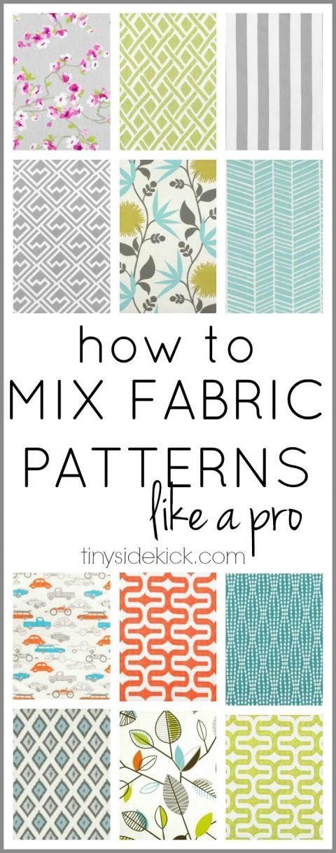 how to mix fabric patterns like a pro. This would be useful for scrapbooking too.