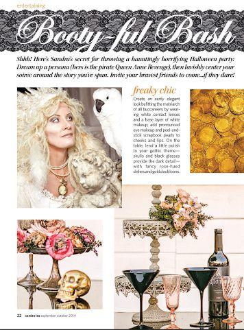 featured in sandra lee magazine stacey lynn design gothic chicchicago weddingwedding plannerphoto shoot
