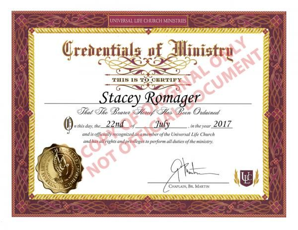 I just got ordained online as a minister of the Universal Life Church! #ordained