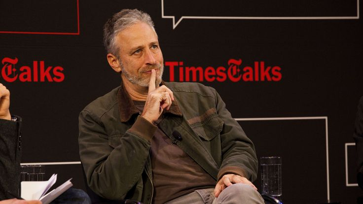 Information has become info-laundering scheme==Times Talks with James Poniewozik, Jon Stewart and Chris Smith. Photo by Steve Meyer.