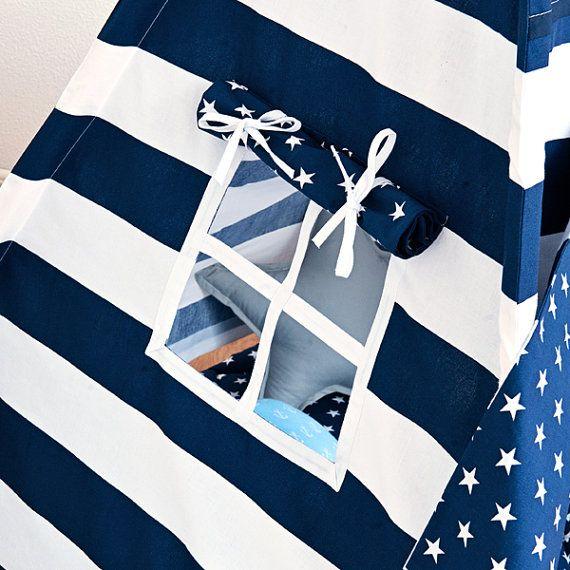 Tipi tienda  rayas azul marino
