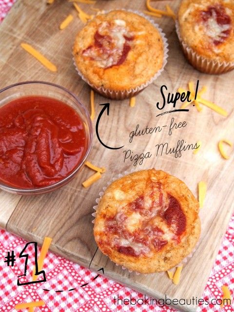 It's easy to pack a lunch or serve a snack with these Gluten Free Pizza Muffins on hand from Faithfully Gluten Free