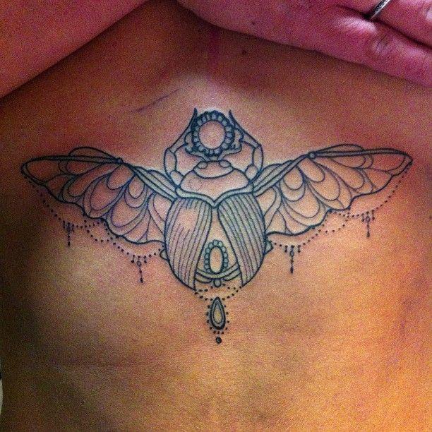 """#tattoo #chesttattoo #skarabäus # scarabeus #mädchentattoo #maedchenmittattoo"""
