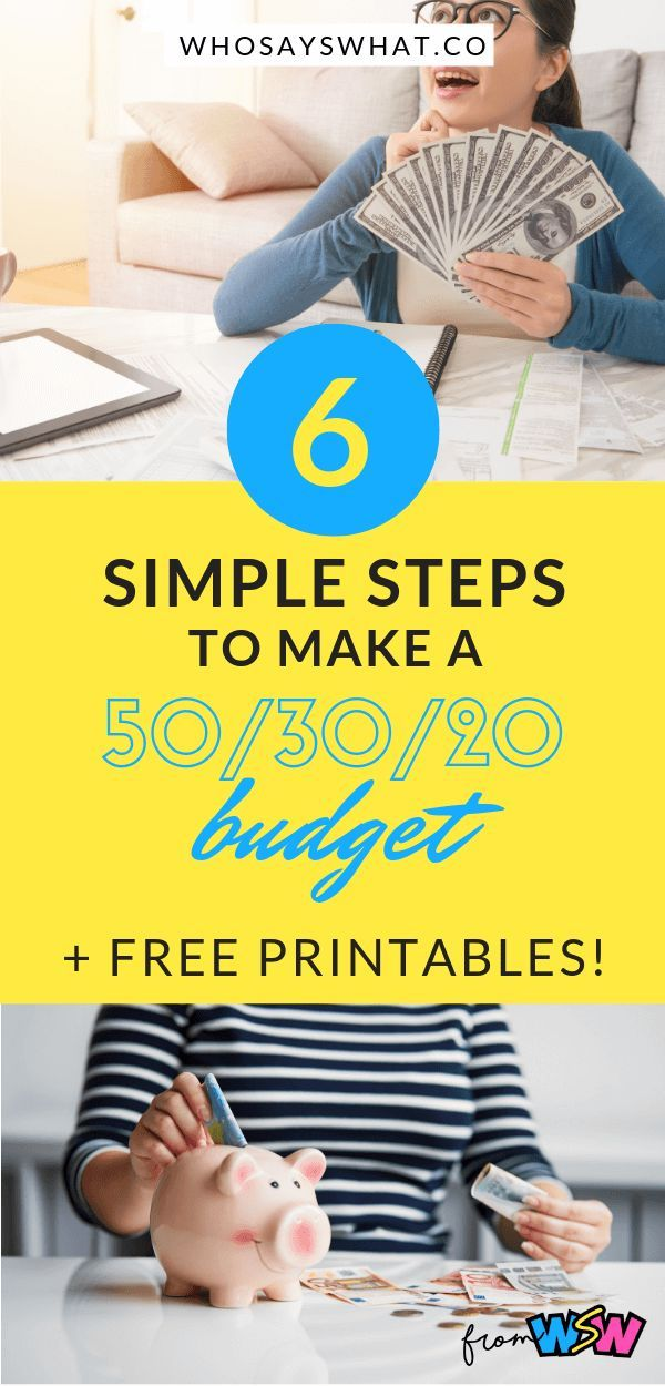 50 30 20 budget method with spreadsheet template 56 Tips On Preparing Finances For The Future Home id=38685
