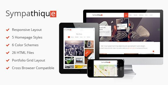 Sympathique - Responsive HTML Template - ThemeForest Item for Sale