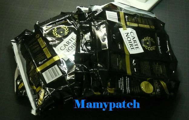 Tuto du sac réalisé avec des paquets de café
