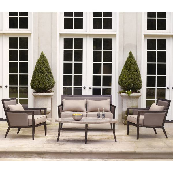 Greystone Collection   Loveseat, Lounge Chairs And Coffee Table · Brown  JordanOutdoor ...